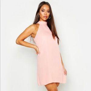 Boohoo Blush Swing Dress